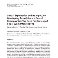 Sexual Exploitation and its Impact on Developing Sexualities and Sexual Relationships